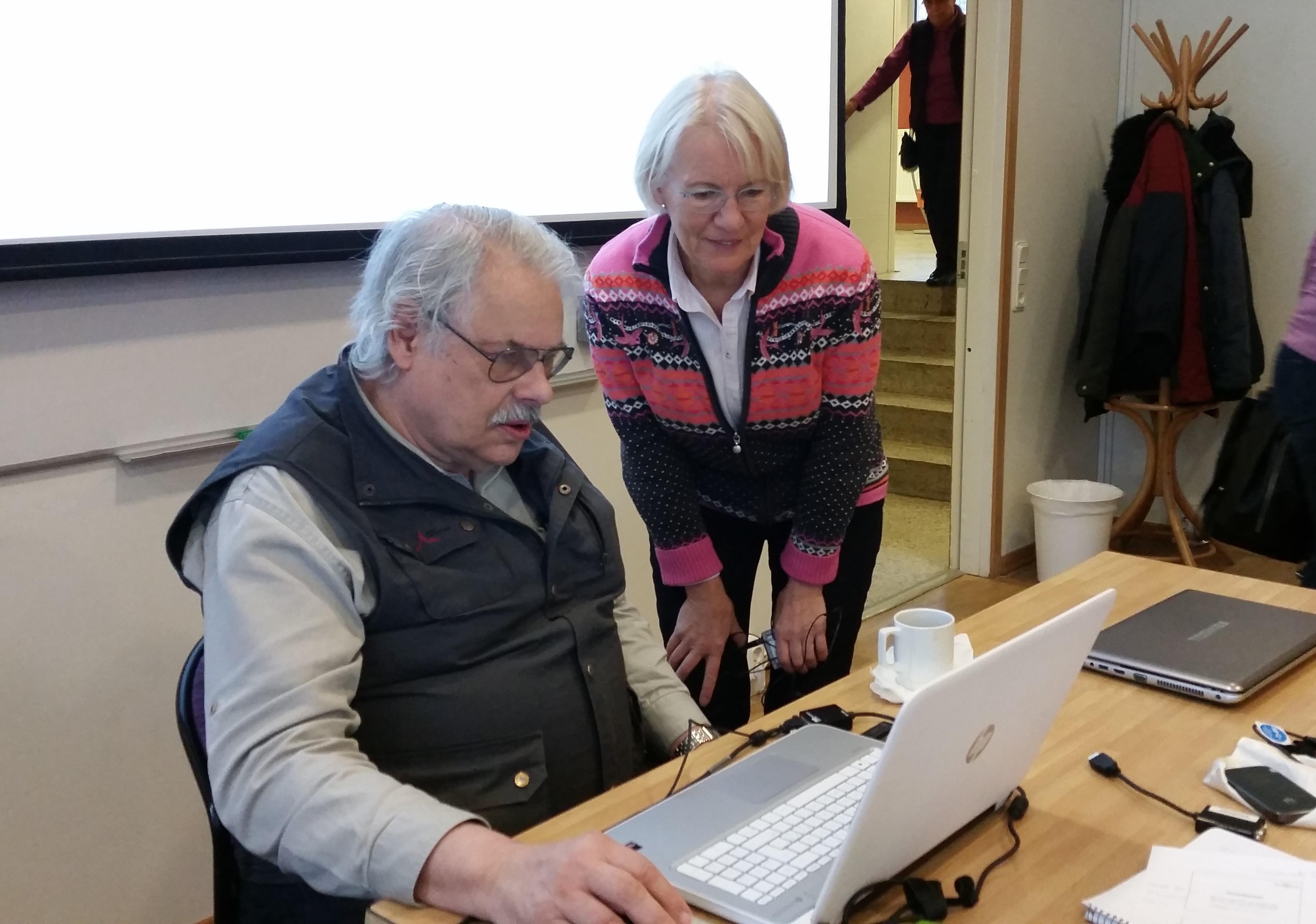 Eva Blommegård och Bengt Wolff ledde dagens Ventilenträff